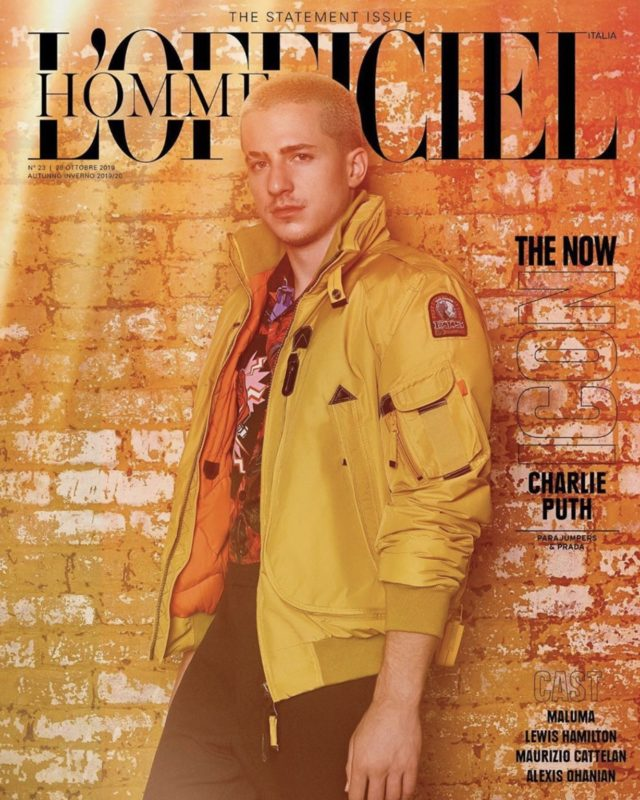 Charlie Puth -L'OFFICIEL HOMME Italy